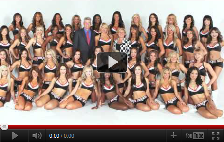 Dr. King and Dr. Cooper at Falcons Cheerleaders 2011 Photo Shoot